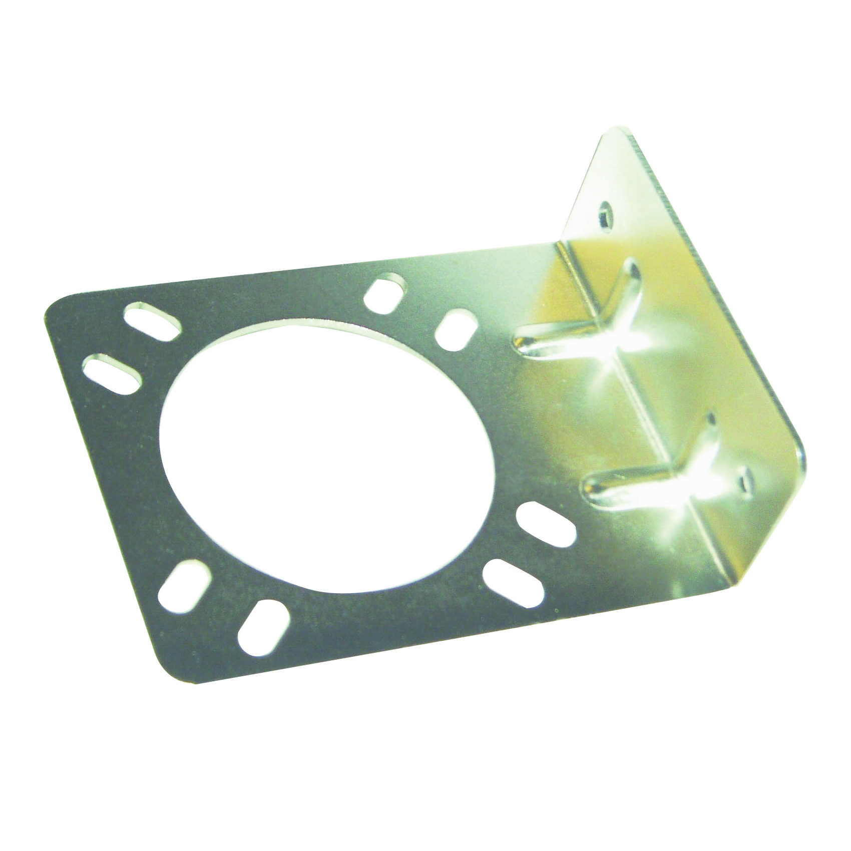 Picture of US Hardware RV-354C Connector Bracket, Stamped Steel, Mill, For: RV Trailer Connector Metal or Plastic