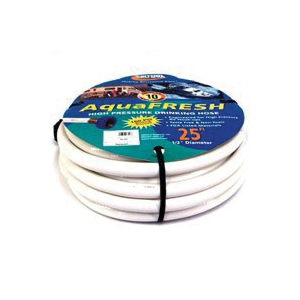 Picture of US Hardware RV-567 Drinking Water Hose, 25 ft L, 500 psi Pressure, White