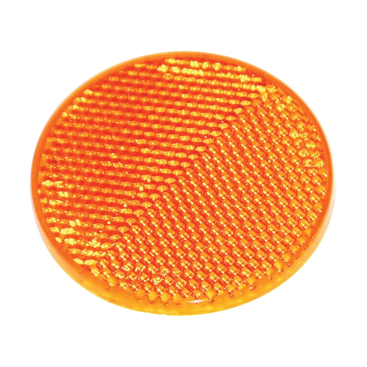 Picture of US Hardware RV-658C Safety Reflector, Amber Reflector, Plastic Reflector, Adhesive Mounting