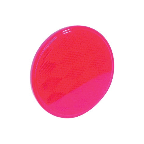 Picture of US Hardware RV-659C Safety Reflector, Red Reflector, Plastic Reflector, Adhesive Mounting