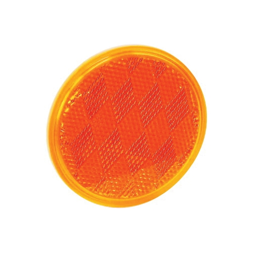 Picture of US Hardware RV-660C Safety Reflector, Amber Reflector, Plastic Reflector, Adhesive Mounting