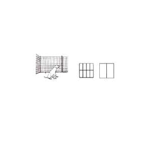 Picture of Jackson Wire 10 08 23 29 Welded Garden Fence, 50 ft L, 24 in H, 1/2 x 1 in Mesh, 16 Gauge, Black, Galvanized