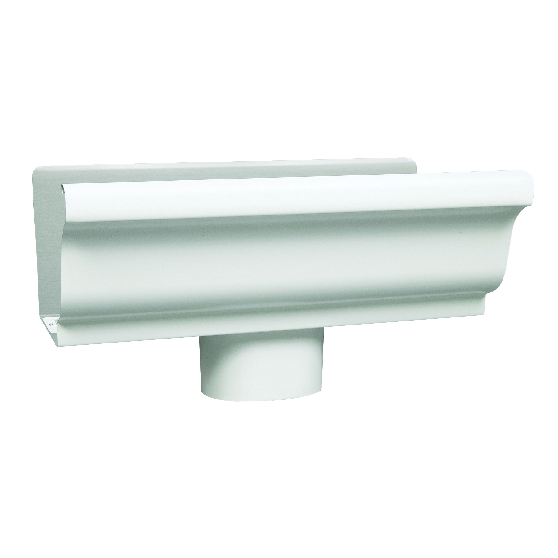 Picture of Amerimax 27010 Gutter End with Drop, 2 in W, Aluminum, White, For: 5 in K-Style Gutter System