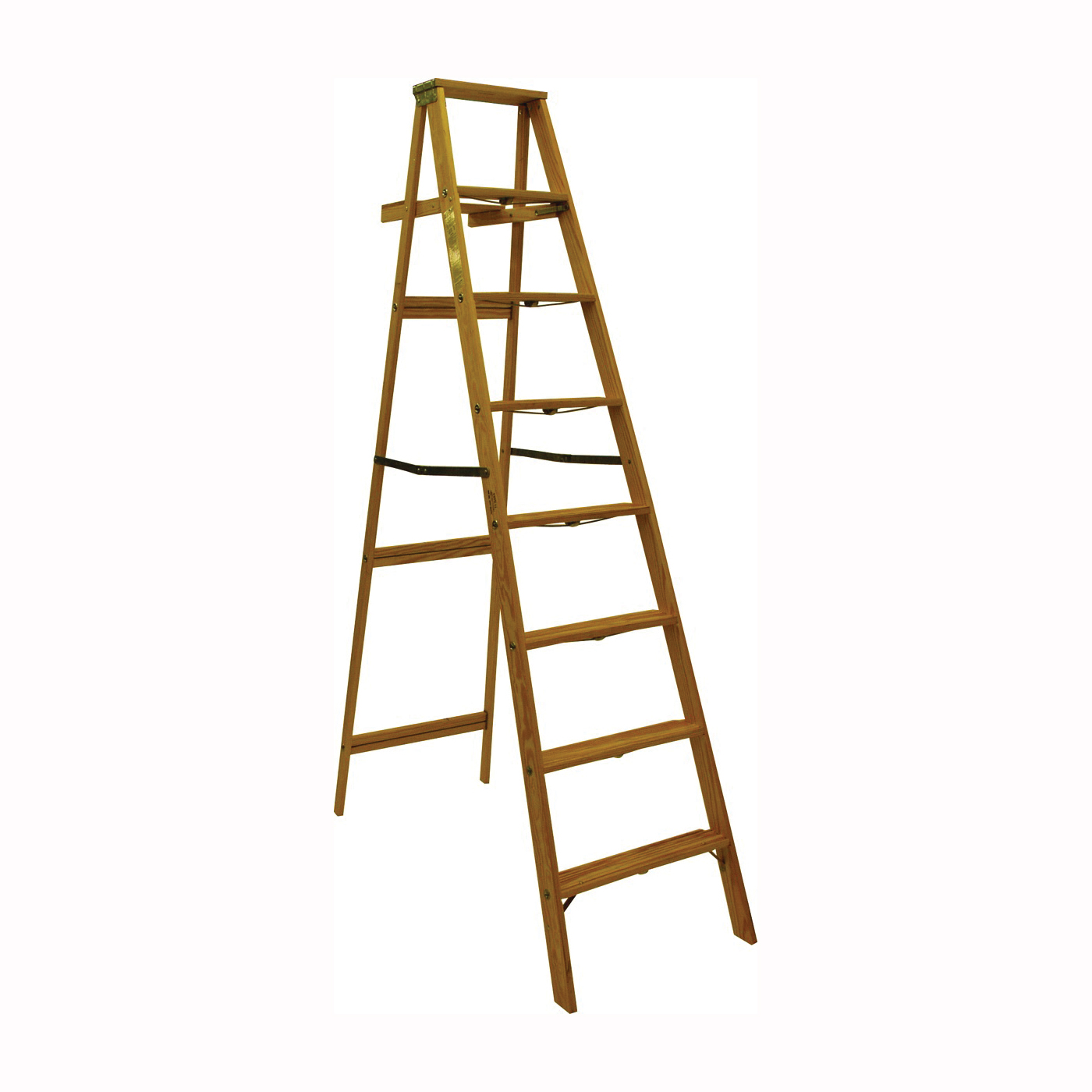 Picture of MICHIGAN LADDER 1200-08 Step Ladder, 225 lb, Type II Duty Rating, Wood, Pine