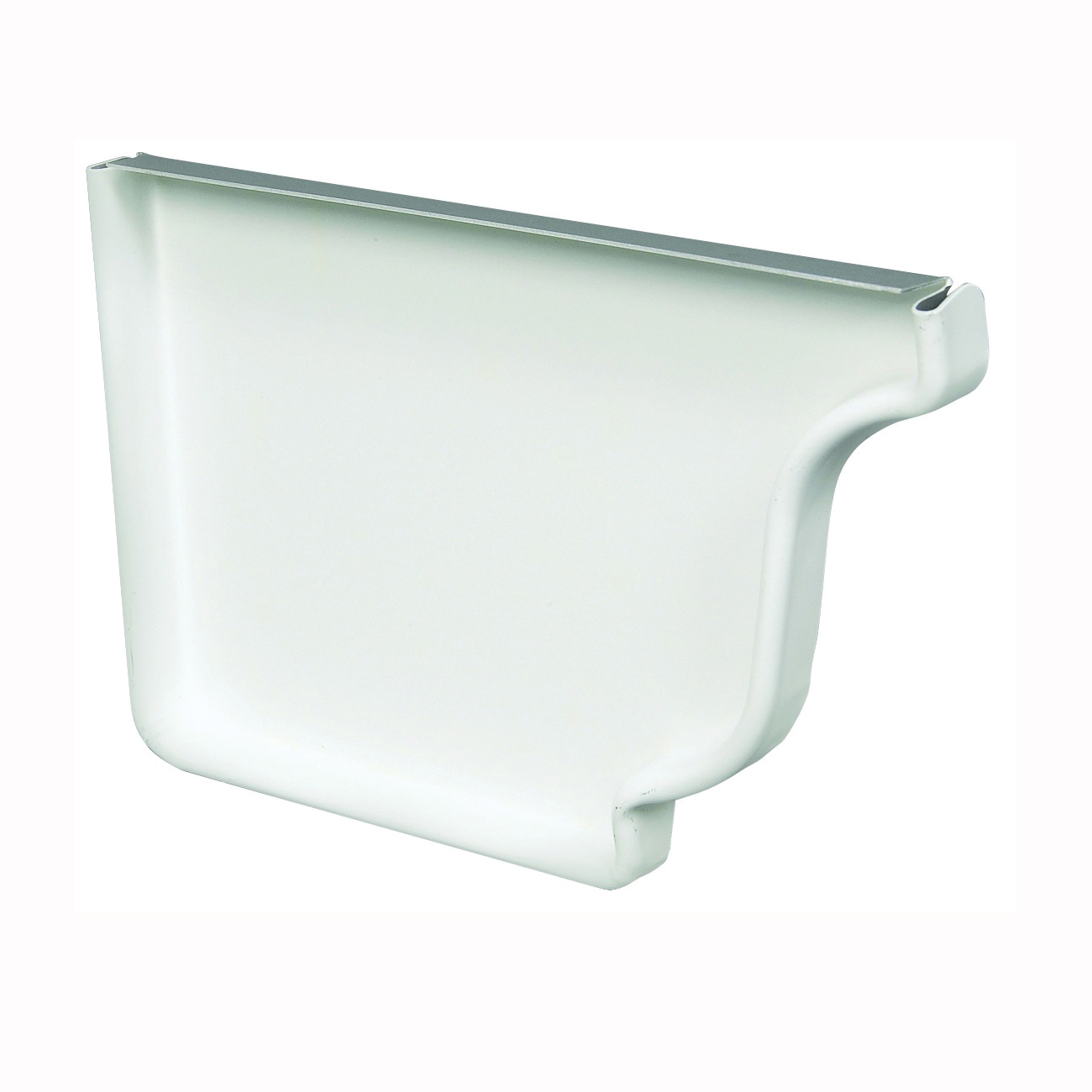 Picture of Amerimax 27005 Gutter End Cap, 5 in L, Polypropylene, White