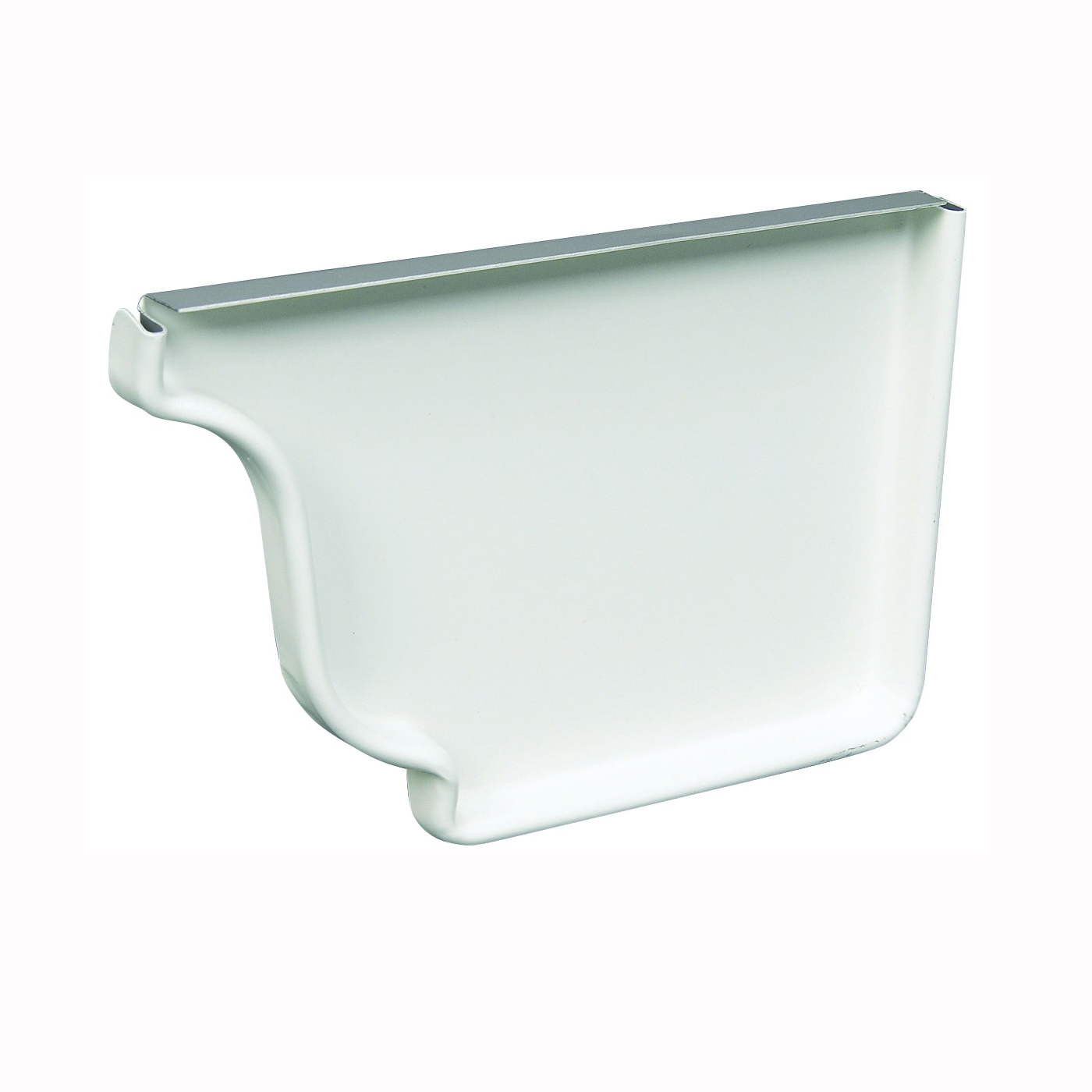Picture of Amerimax 27006 Gutter End Cap, 5 in L, Vinyl, White, For: 5 in K-Style Gutter System