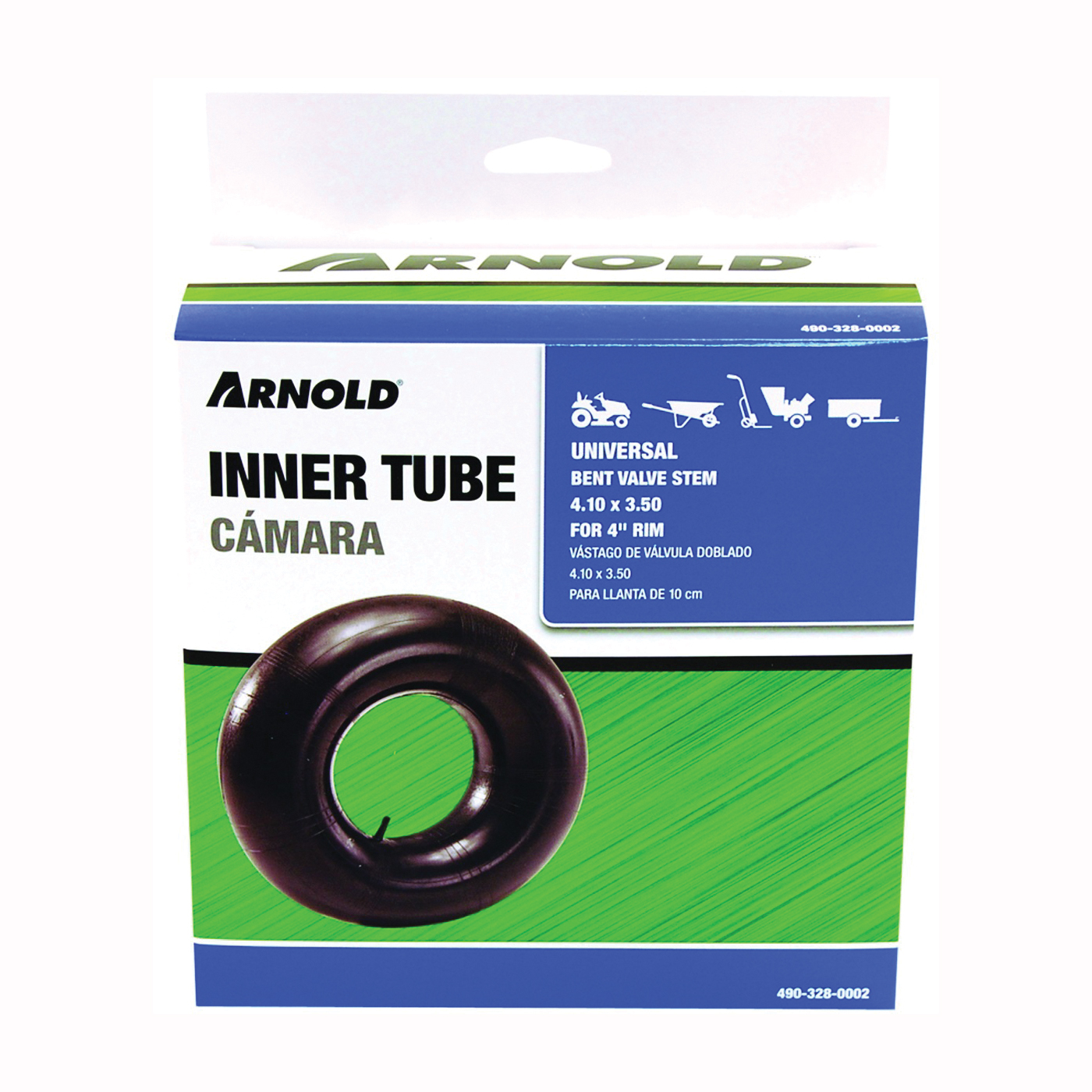 Picture of MTD 490-328-0002/TB4 Wheelbarrow Inner Tube, For: 4 in Rim, 4.1 x 3.5 in Tire
