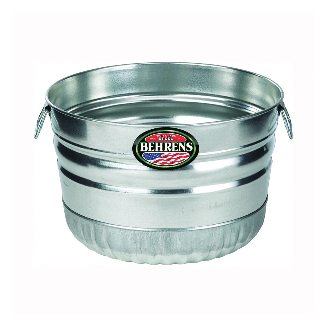 Picture of Behrens 32S Utility Basket, 1 bu Capacity, Galvanized Steel