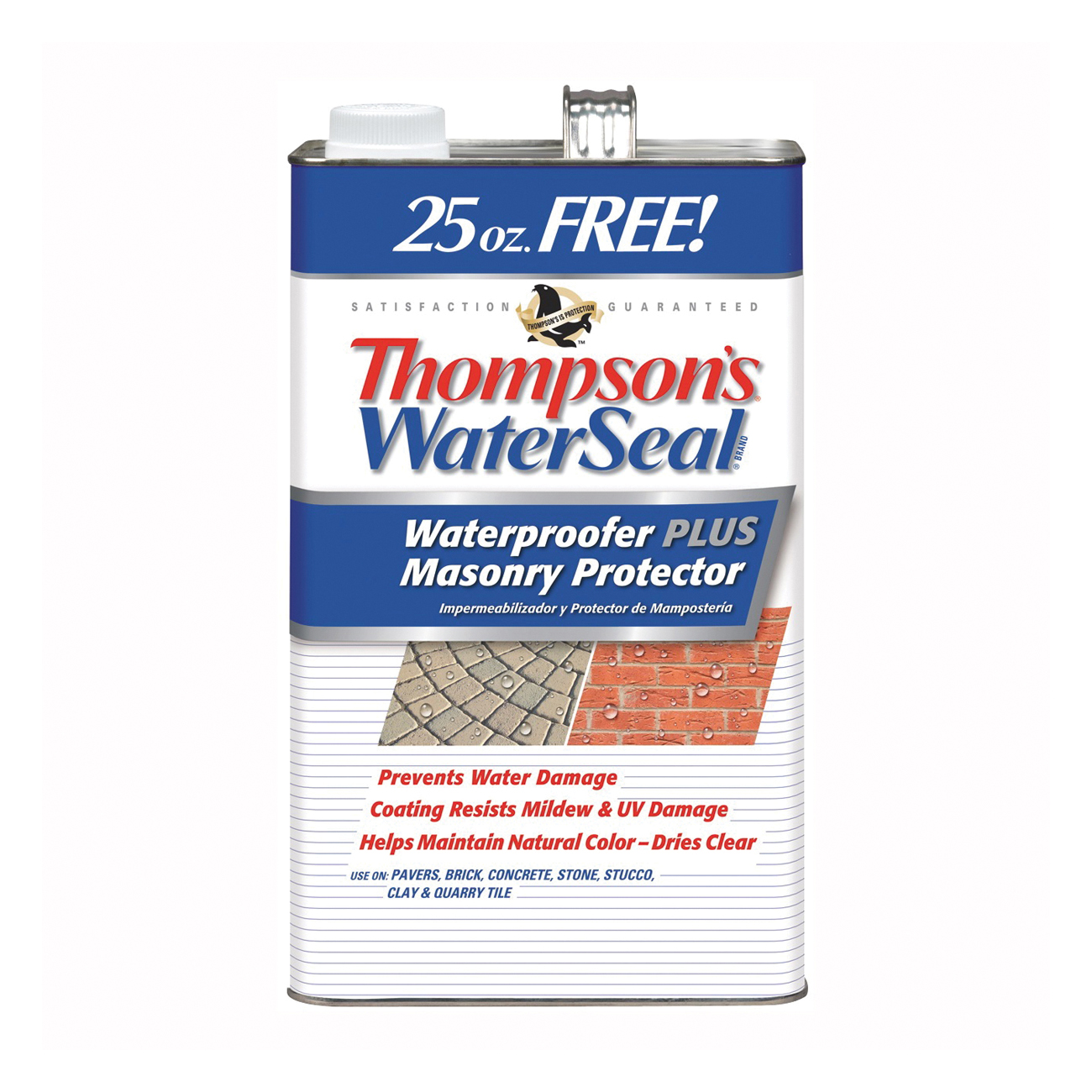 Picture of Thompson's WaterSeal TH.023111-03 Waterproofer Plus Masonry Protector, Clear, 25 oz Package