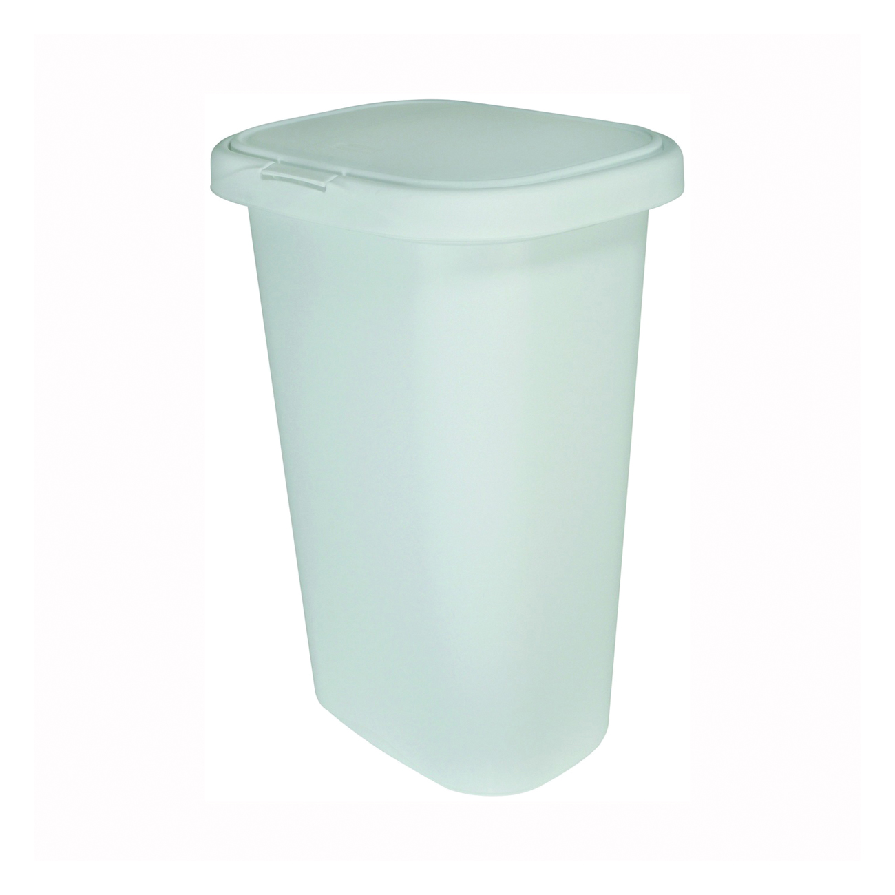 Picture of Rubbermaid 5L58 Series FG5L5806WHT Waste Can, 52 qt Capacity, Plastic, White, 14.89 in W, 17-1/4 in D, 25-1/2 in H
