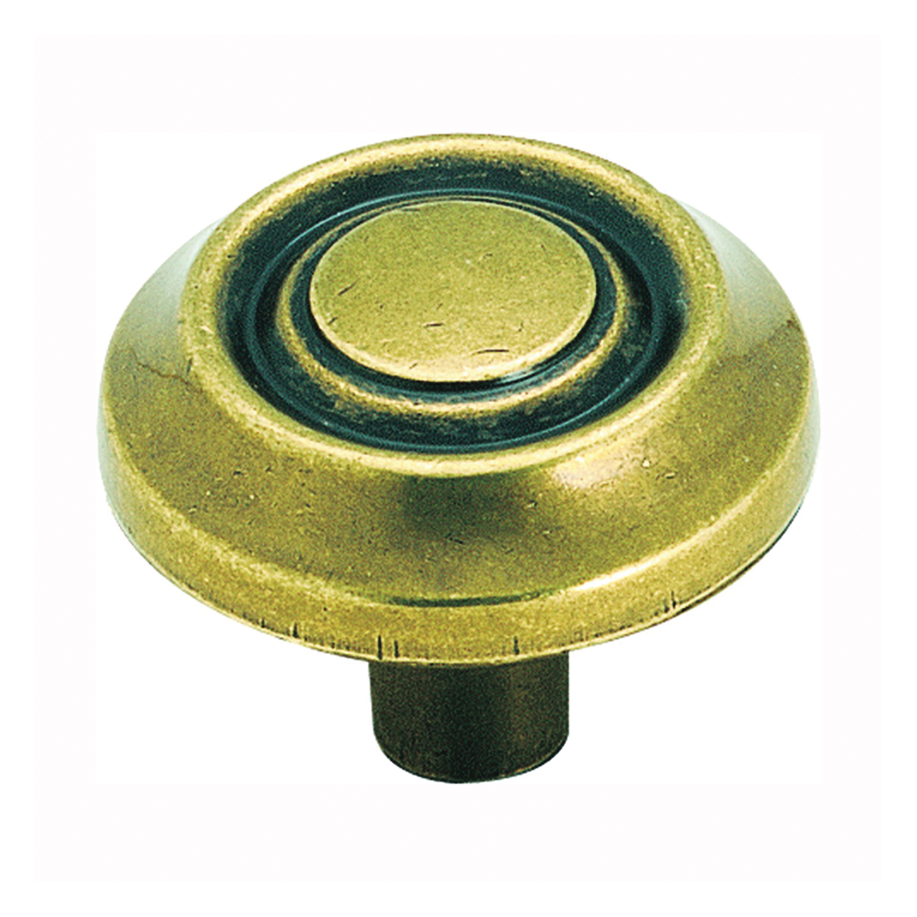 Picture of Amerock BP3423BB Cabinet Knob, 1 in Projection, Zinc, Burnished Brass
