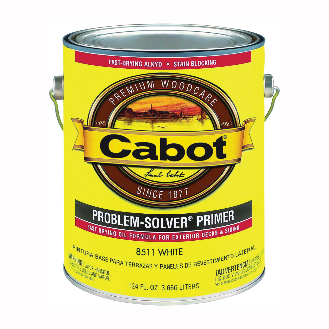 Picture of Cabot Problem-Solver 8511 Exterior Primer, Flat, White, 1 gal
