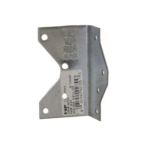 Picture of MiTek MP34 Framing Angle, 1-1/2 in W, 1-7/16 in D, 2-1/2 in H, Steel, G90 Galvanized