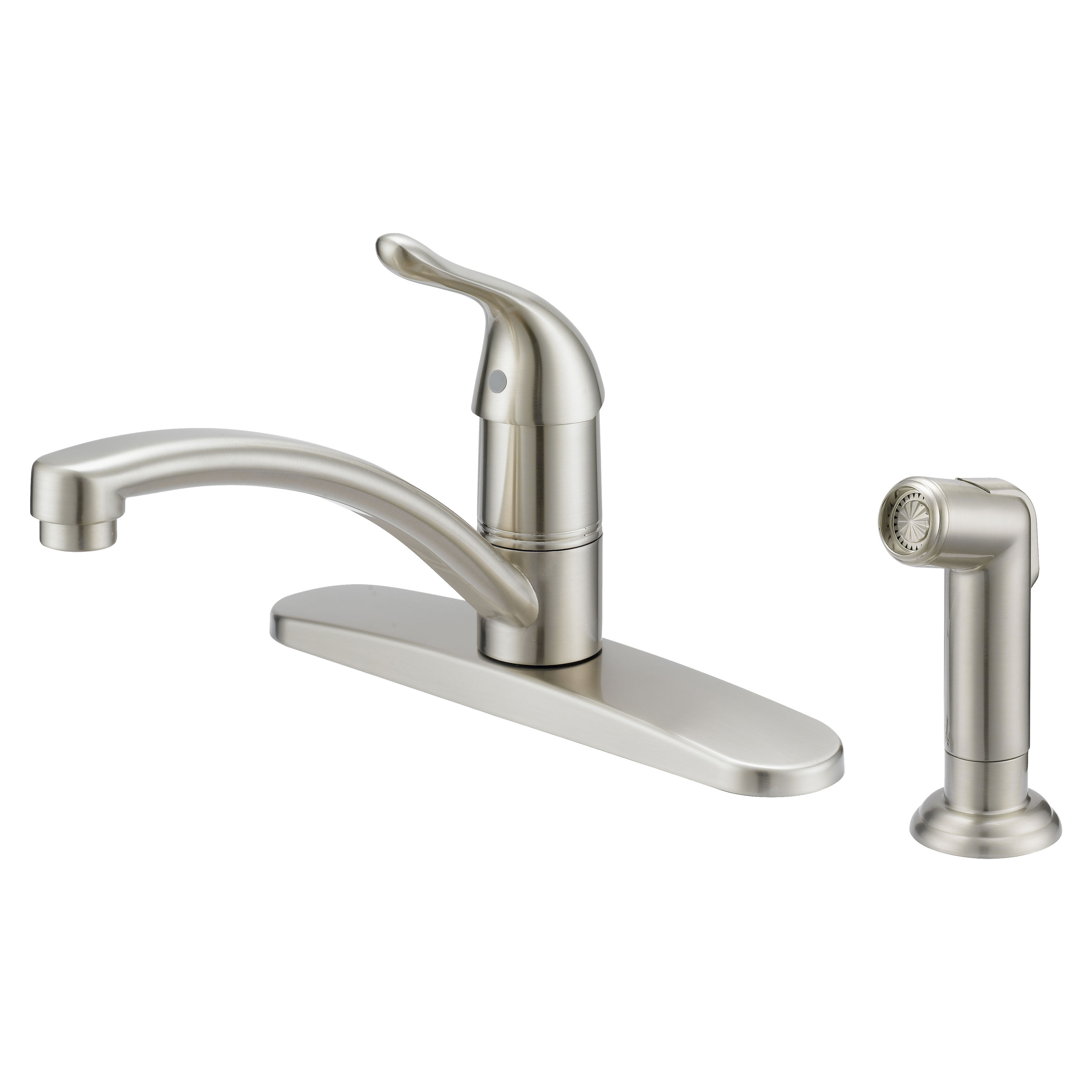 Picture of Boston Harbor 67534-1004 Kitchen Faucet, 1.8 gpm, 1-Faucet Handle, Metal, Brushed Nickel, Lever Handle