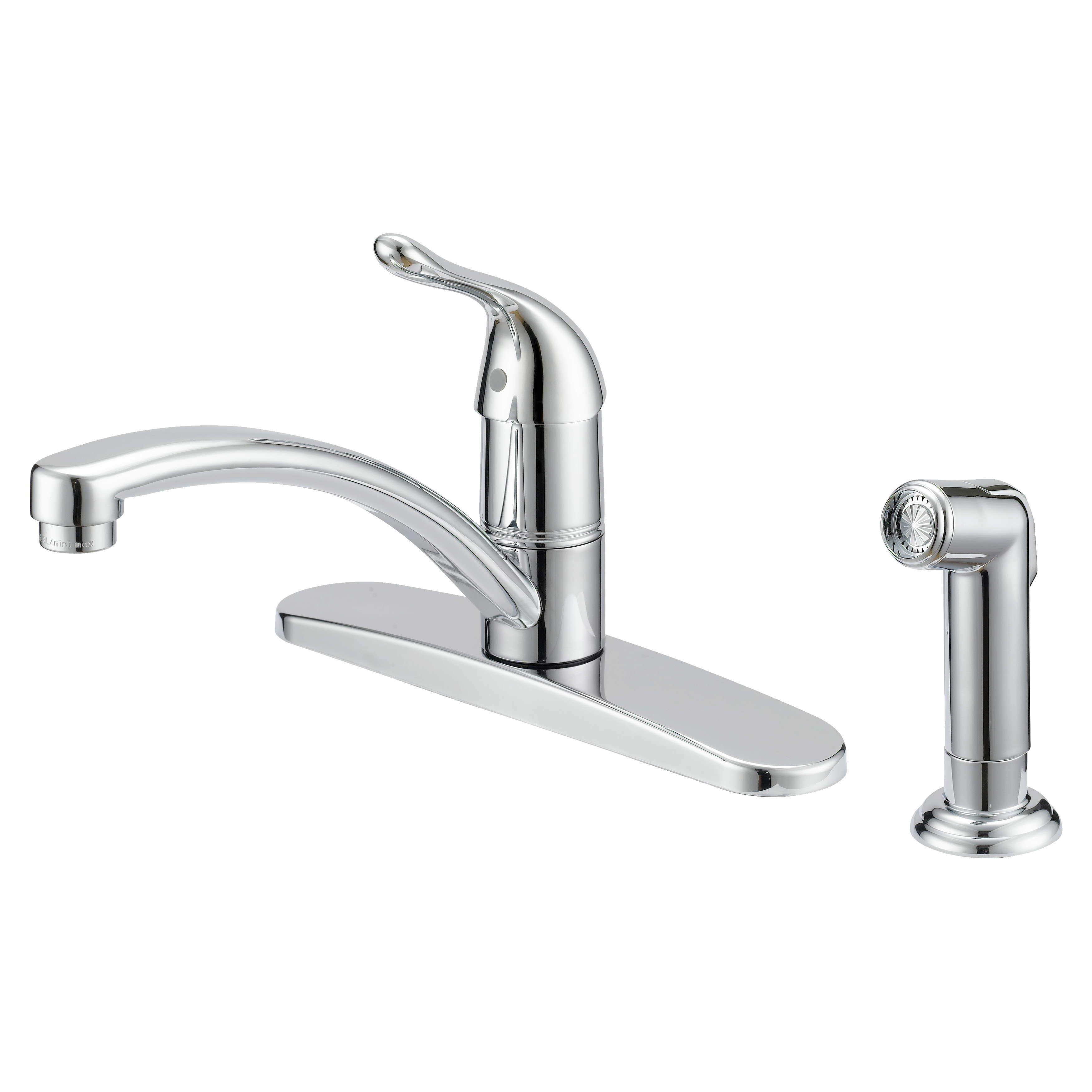 Picture of Boston Harbor 67534-1001 Kitchen Faucet, 1.8 gpm, 1-Faucet Handle, Metal, Chrome, Lever Handle