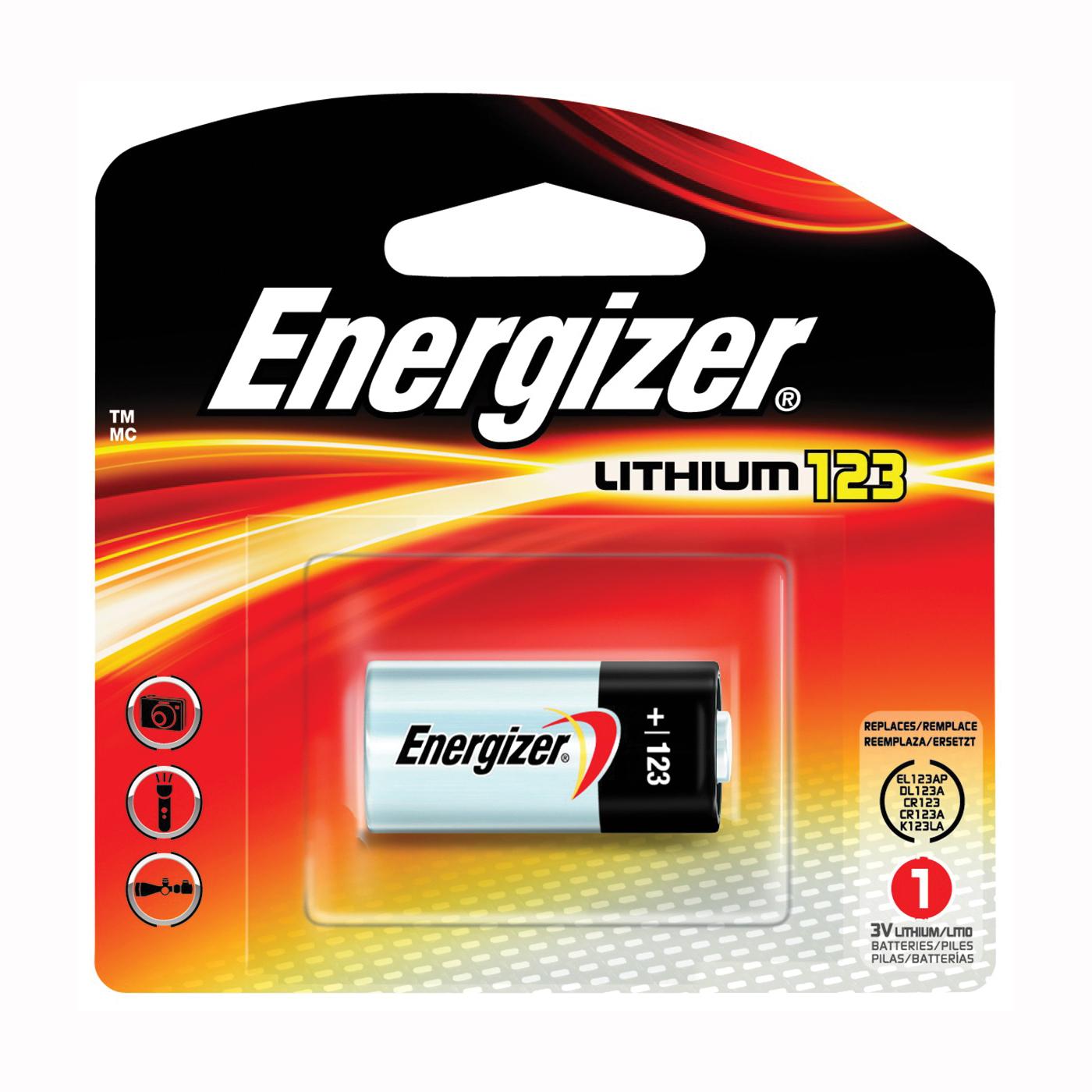 Picture of Energizer EL123AP Series EL123APBP Lithium Battery, 3 V Battery, 1500 mAh, Lithium, Manganese Dioxide