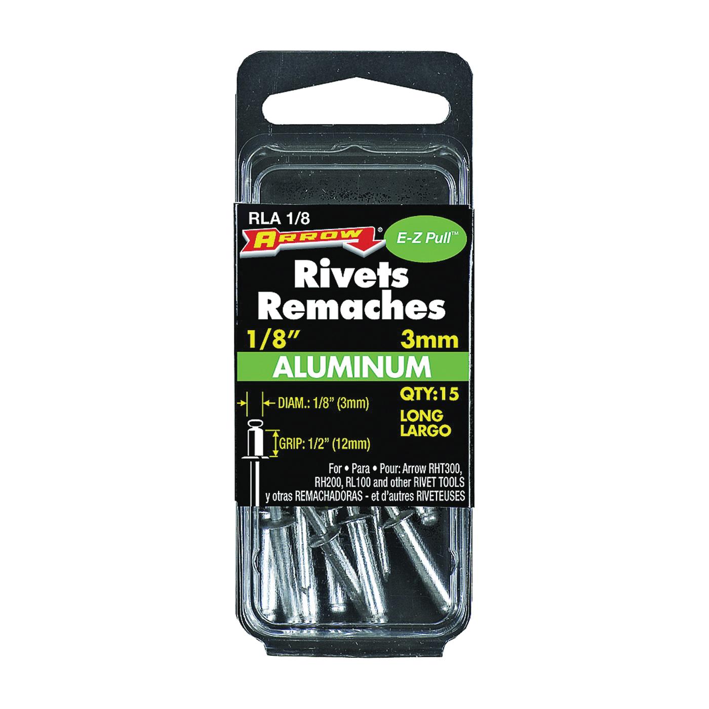 Picture of Arrow RLA1/8 Pop Rivet, Long, 1/2 in L, Aluminum, 15