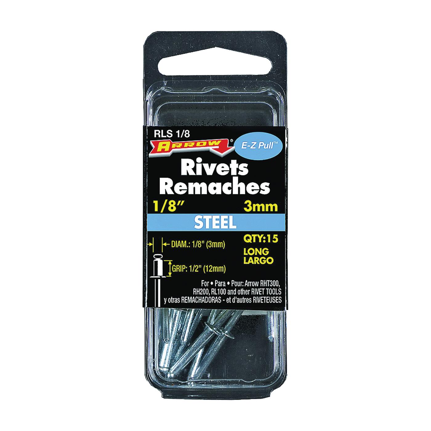 Picture of Arrow RLS1/8 Pop Rivet, Long, 1/2 in L, Steel, 15