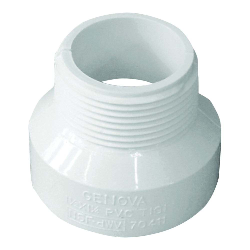 Picture of GENOVA 700 Series 70411 Pipe Adapter, 1-1/2 in Hub, 1-1/4 in MIP
