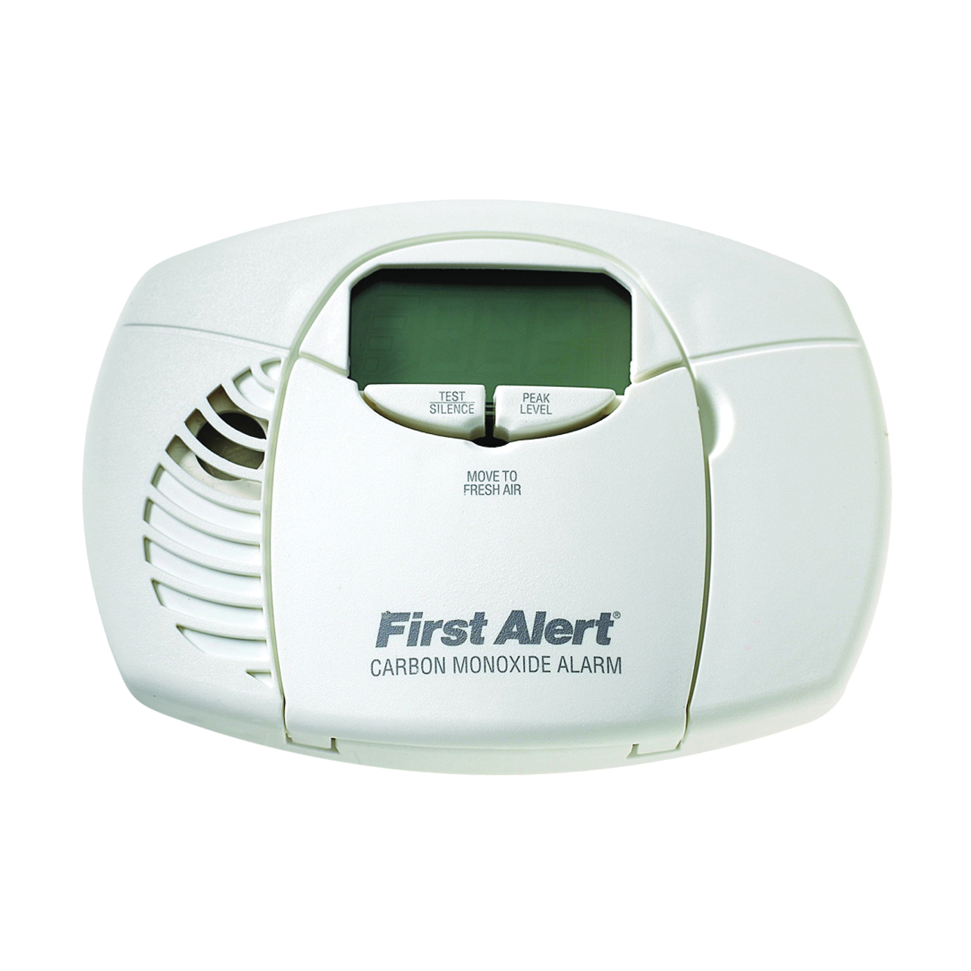Picture of FIRST ALERT CO410 Carbon Monoxide Alarm, 10 ft, Digital Display, 85 dB, Alarm: Audible, Electrochemical Sensor