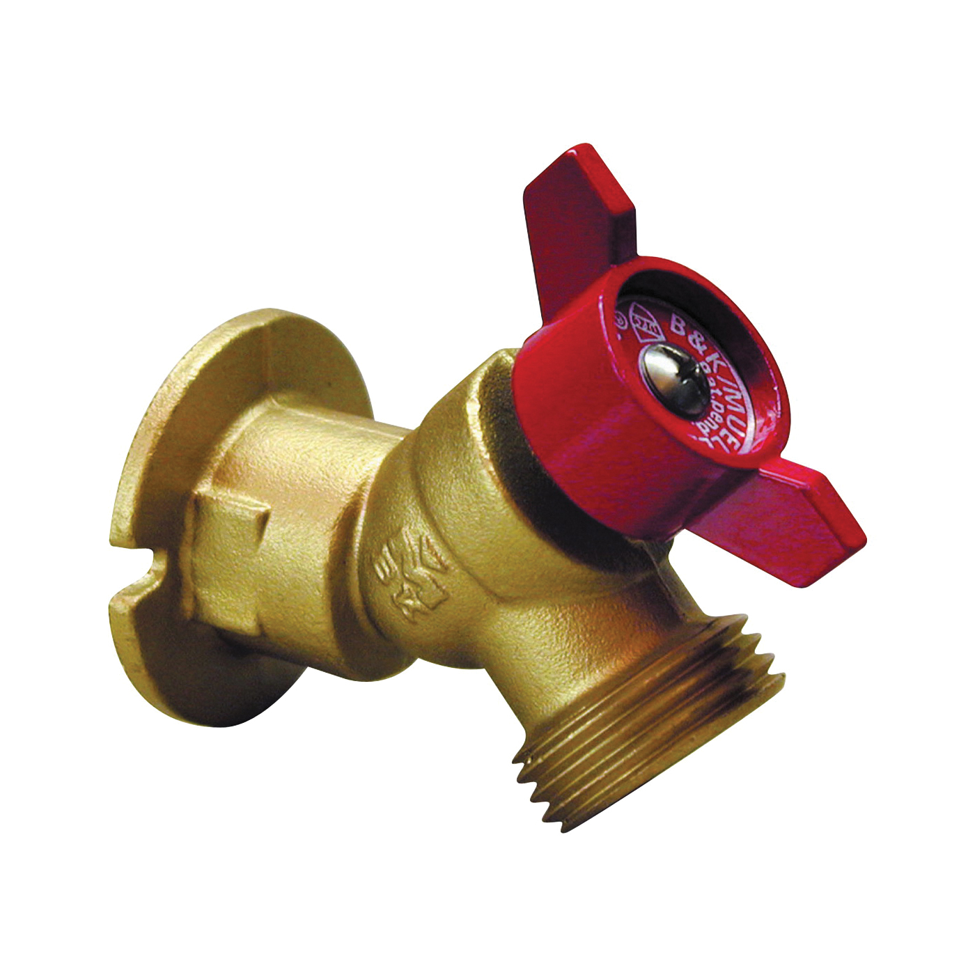 Picture of B & K 108-054HN Sillcock Valve, 3/4 x 3/4 in Connection, FPT x Male Hose, 125 psi Pressure, Brass Body