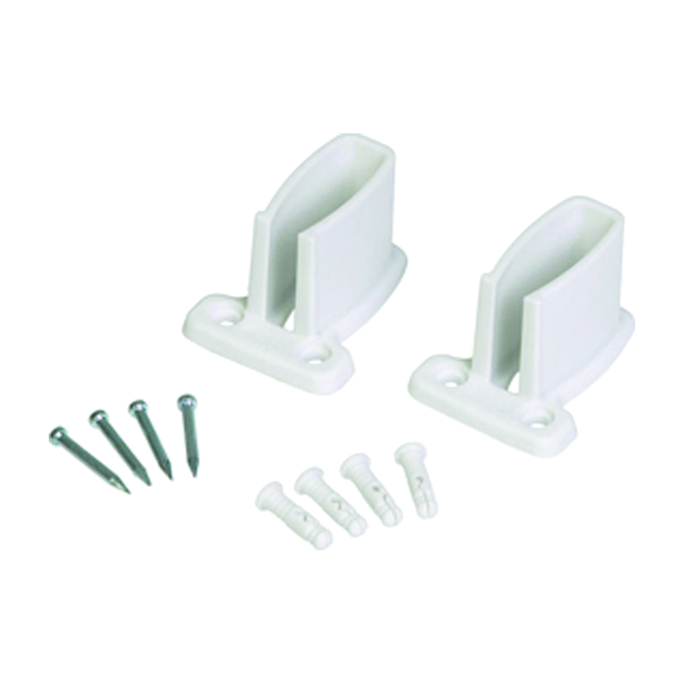 Picture of ClosetMaid 21782 Wall Bracket Bag, 2-1/8 in L, 2-7/8 in H, Resin