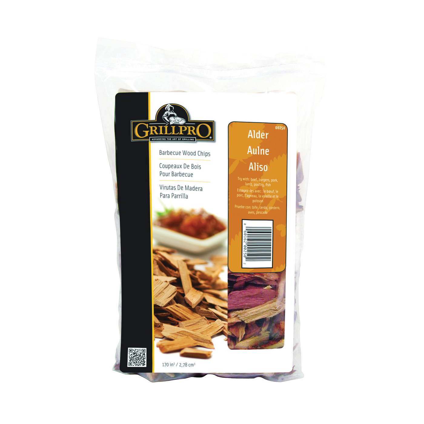 Picture of GrillPro 250 Alder Wood Chips, Wood, 2 lb Package, Bag