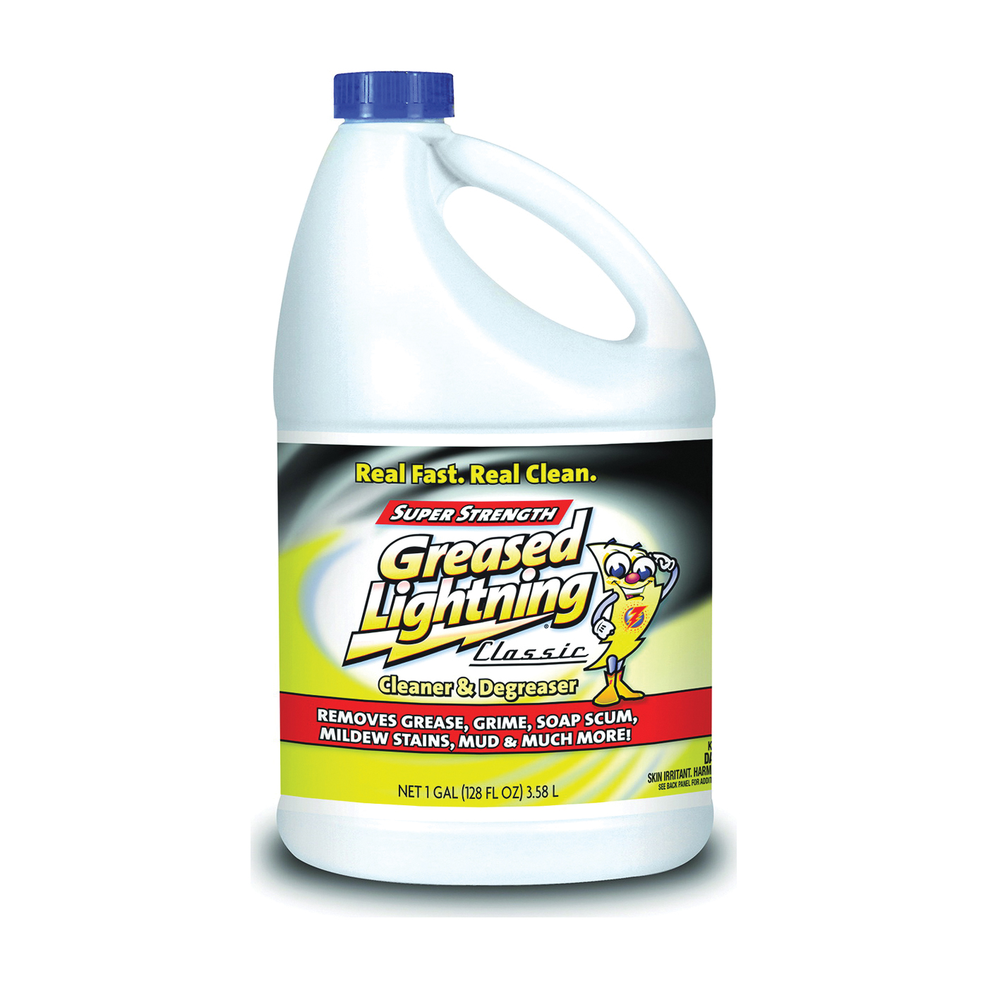 Picture of Greased Lightning 51100GRL Cleaner/Degreaser, 128 oz Package, Liquid, Pleasant
