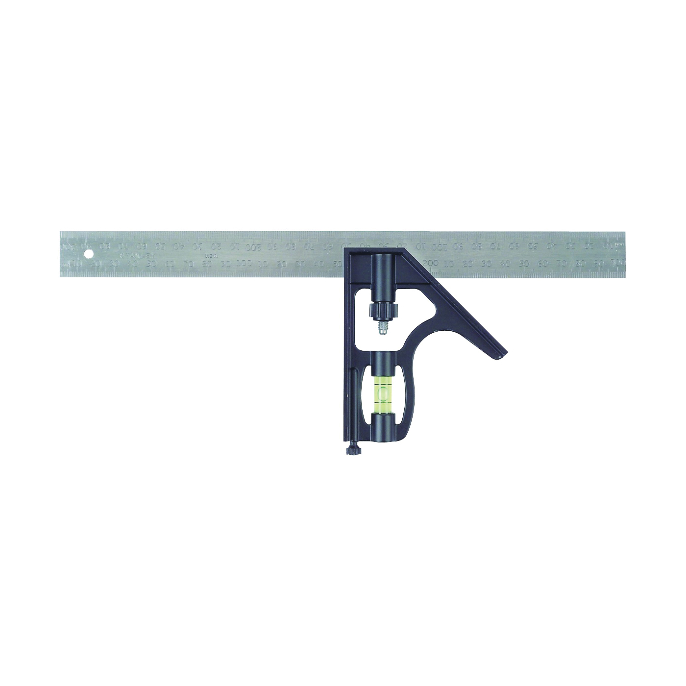 Picture of STANLEY 46-222 Combination Square, 1 in W Blade, 12 in L Blade, SAE Graduation