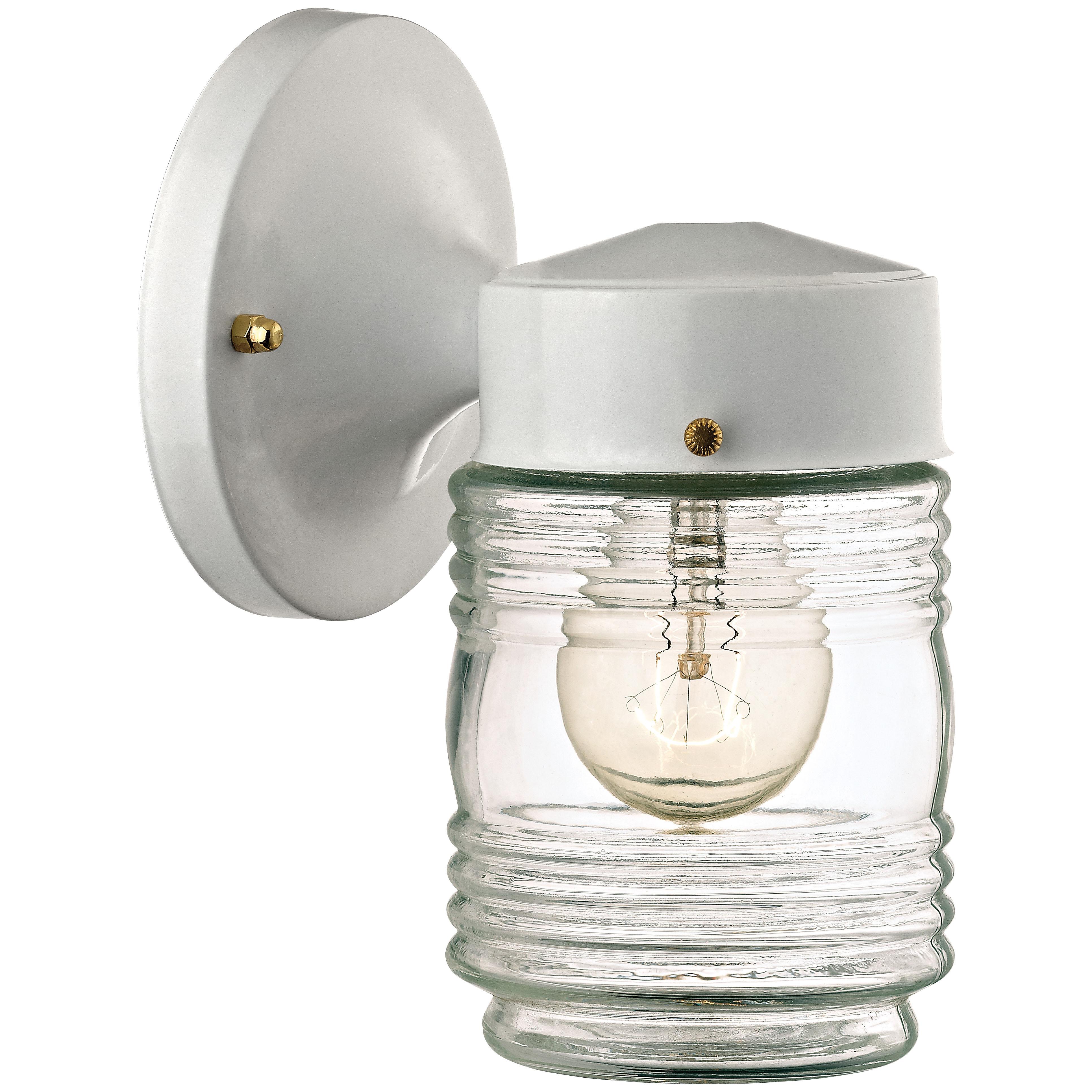Picture of Boston Harbor W15WH01-33883L Porch Light Fixture, CFL Lamp, White