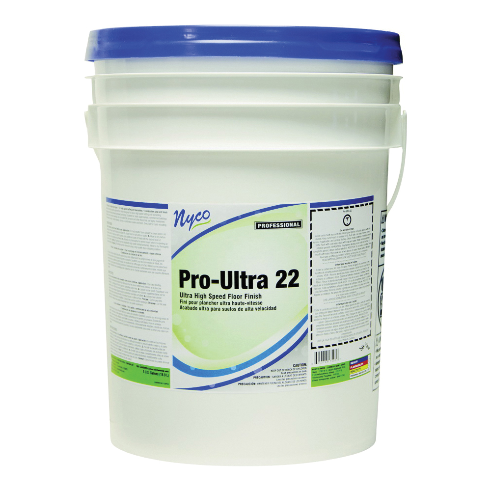 Picture of nyco NL175-P5 Floor Finish, 5 gal Package, Liquid, Acrylic Polymer, White