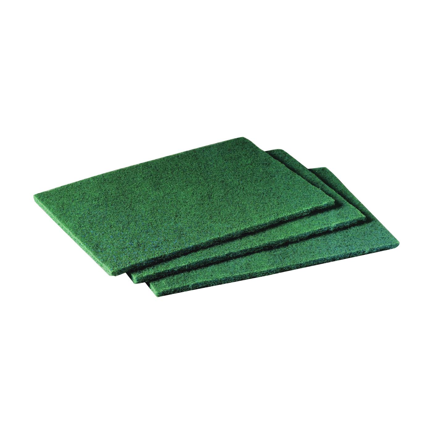 Picture of Scotch-Brite 96 Scouring Pad, 9 in L, 6 in W, Green
