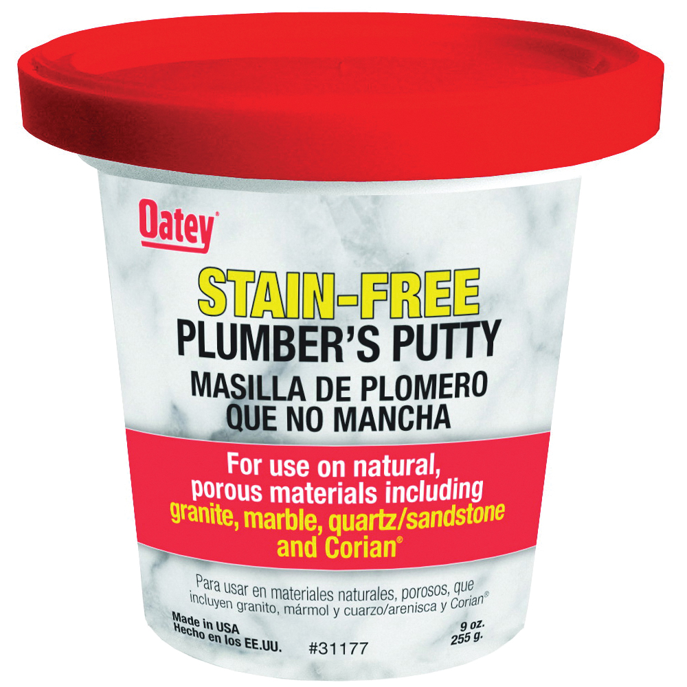 Picture of Oatey 31177 Plumber's Putty, Solid, Off-White, 9 oz Package