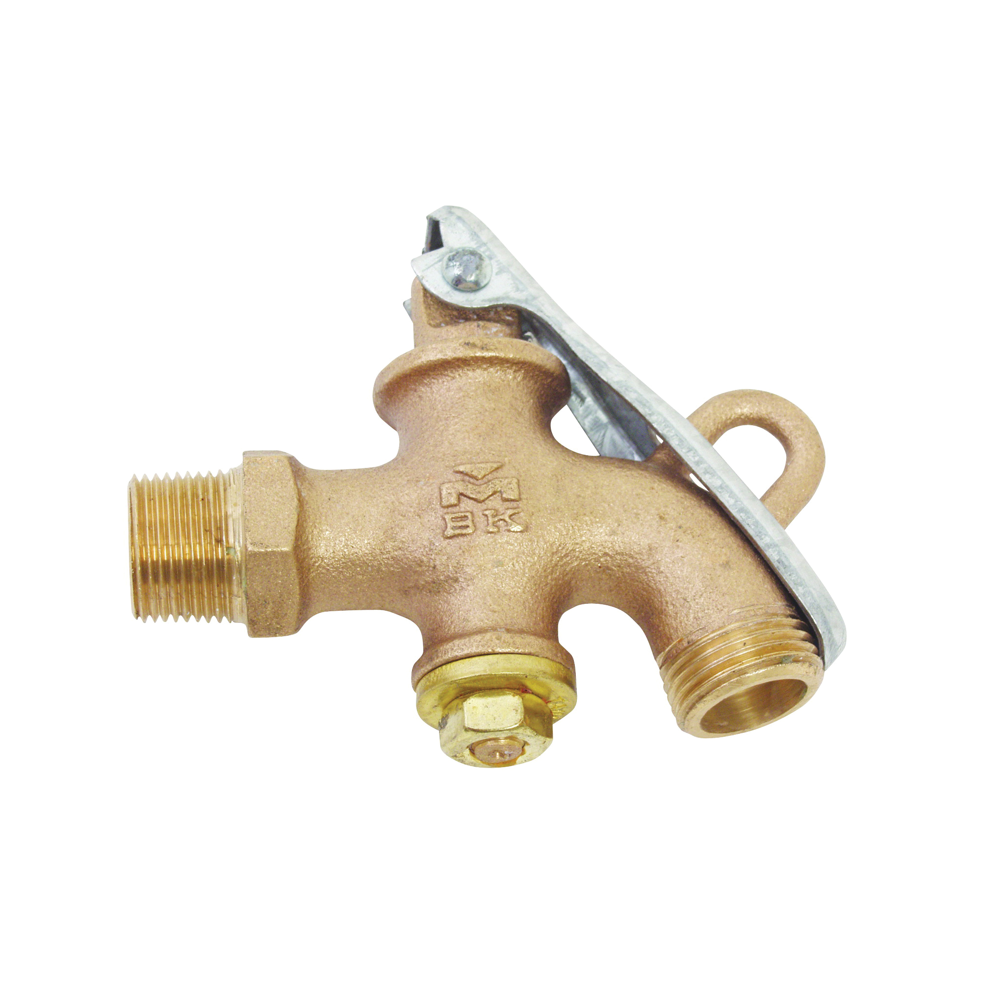 Picture of B & K 109-224 Drum and Barrel Faucet, 3/4 in Connection, MPT x Hose, Bronze Body