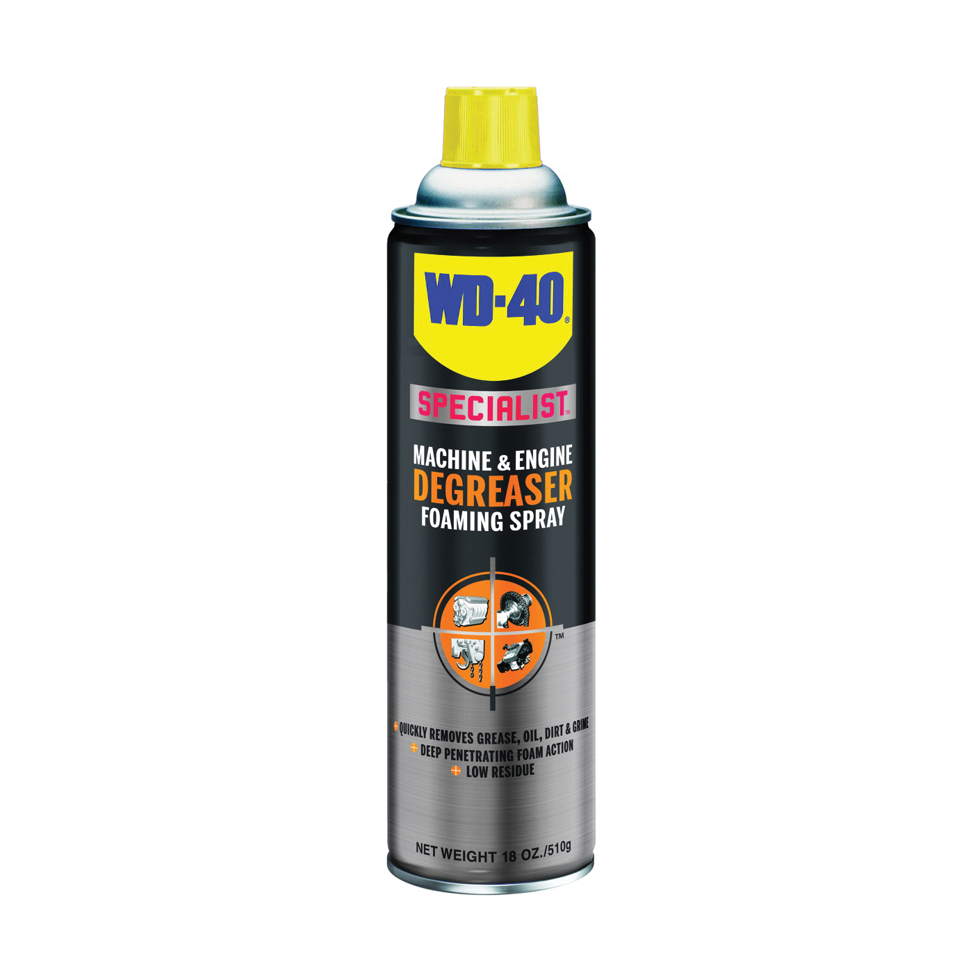 Picture of WD-40 300070 Machine and Engine Degreaser, 18 oz Package, Aerosol Can, Liquid, Citrus