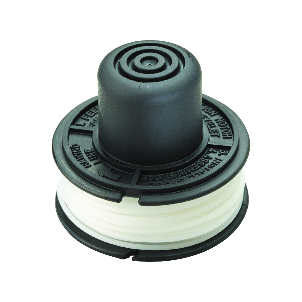 Picture of Black+Decker RS-136 Bump Feed Spool, 0.065 in Dia, 20 ft L, Nylon, White