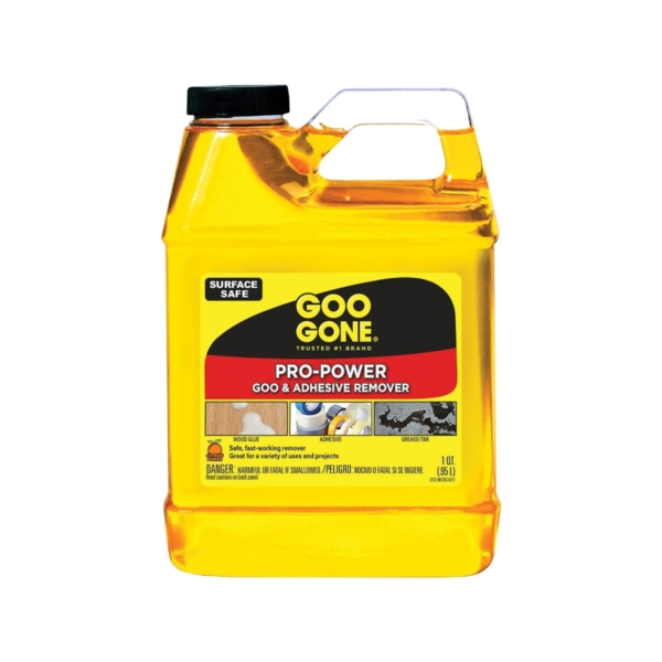 Picture of Goo Gone 2112 Goo and Adhesive Remover, 32 oz Package, Bottle, Liquid, Citrus, Yellow