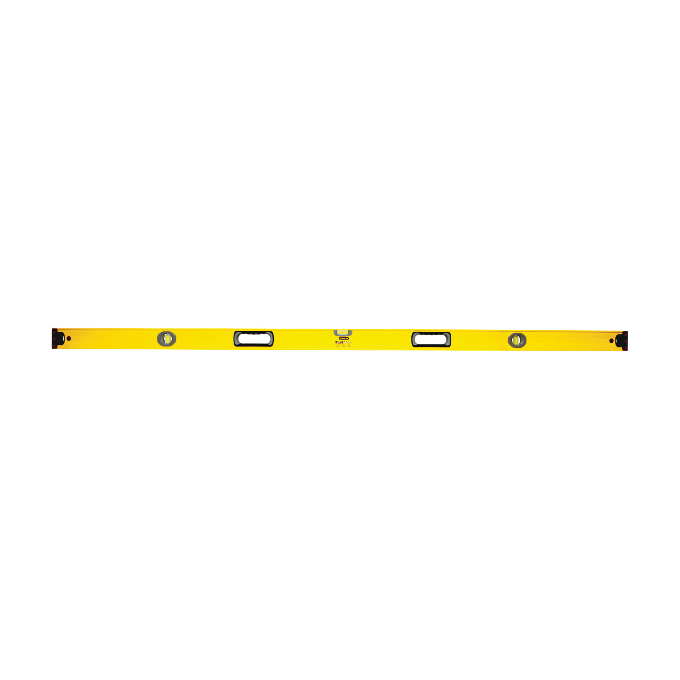 Picture of STANLEY 43-572 Box Beam Level, 72 in L, 3 -Vial, 2 -Hang Hole, Non-Magnetic, Aluminum, Black/Yellow