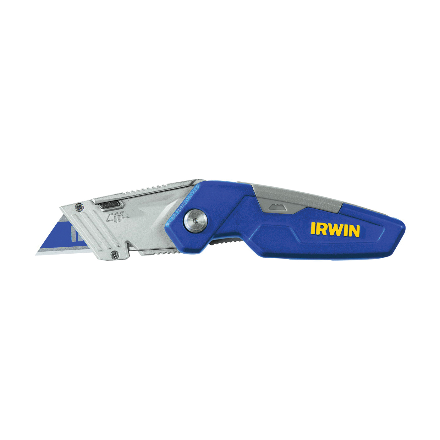 Picture of IRWIN 1858319 Utility Knife, 2-1/2 in L Blade, Bi-Metal Blade, Straight Handle, Blue Handle