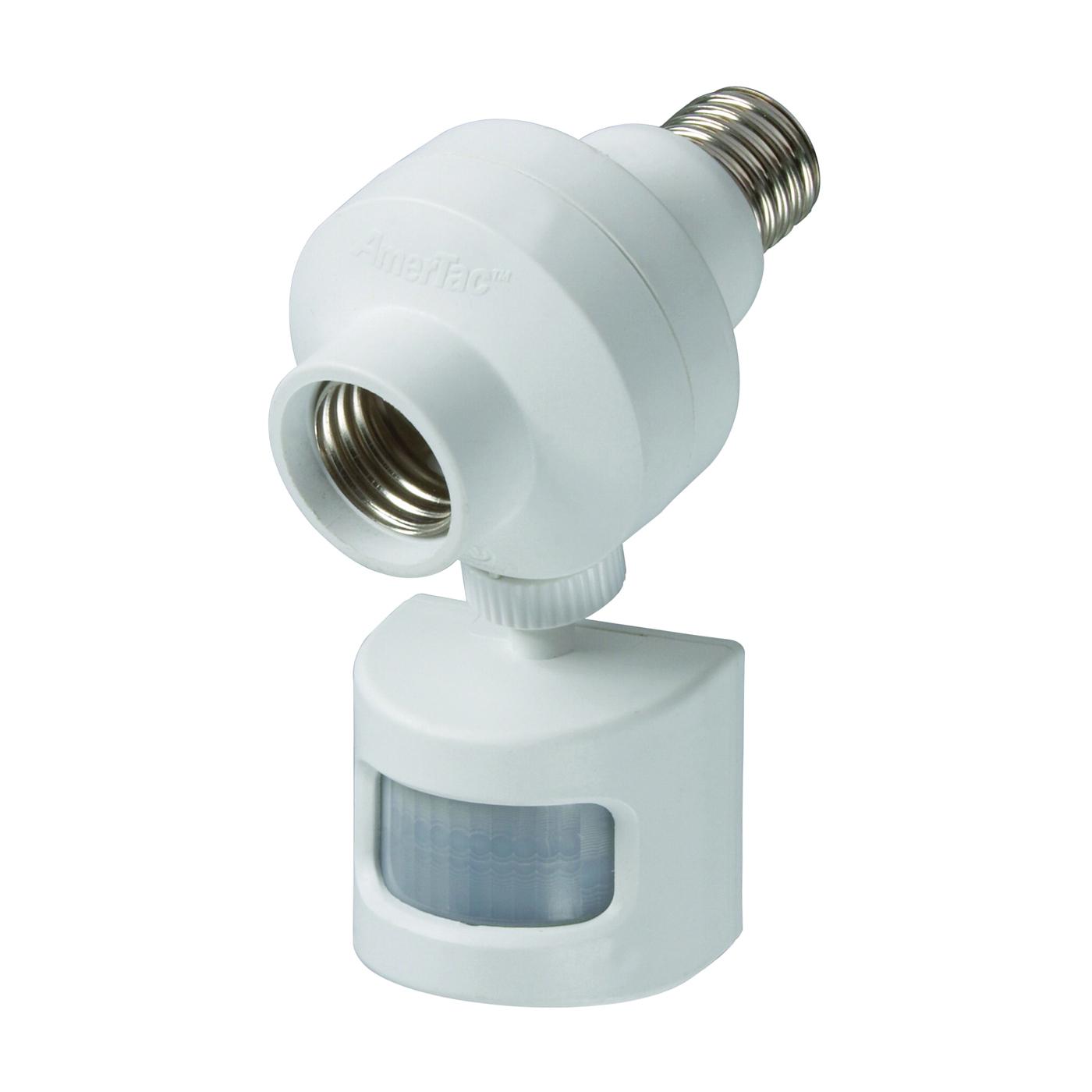 Picture of Westek OMLC5BC Motion Activated Light Control, 10 A, 120 V, Motion Sensor, 180 deg Sensing, 30 ft Sensing, White