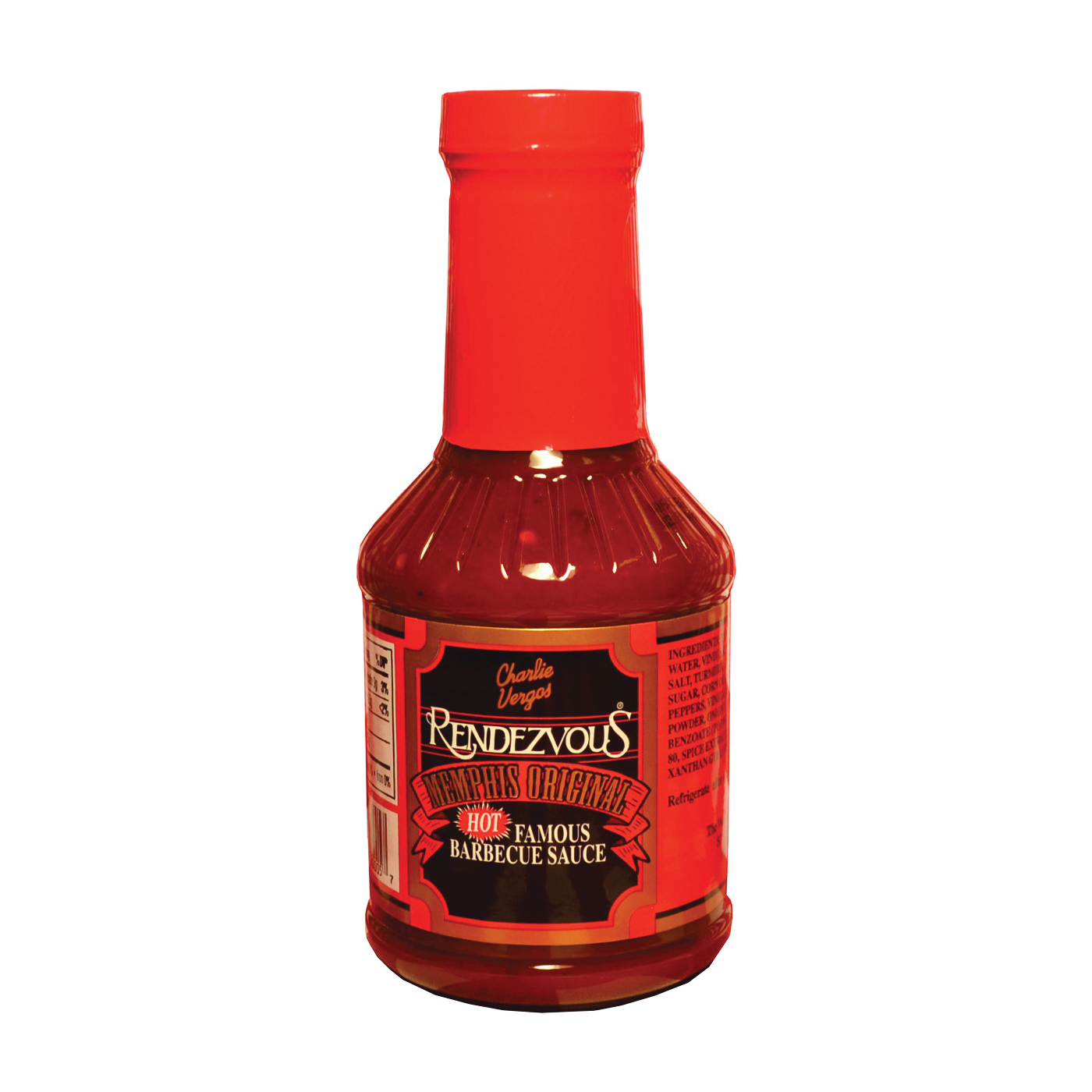 Picture of Charlie Vergos Rendezvous 5 Hot Barbecue Sauce, 18 oz Package