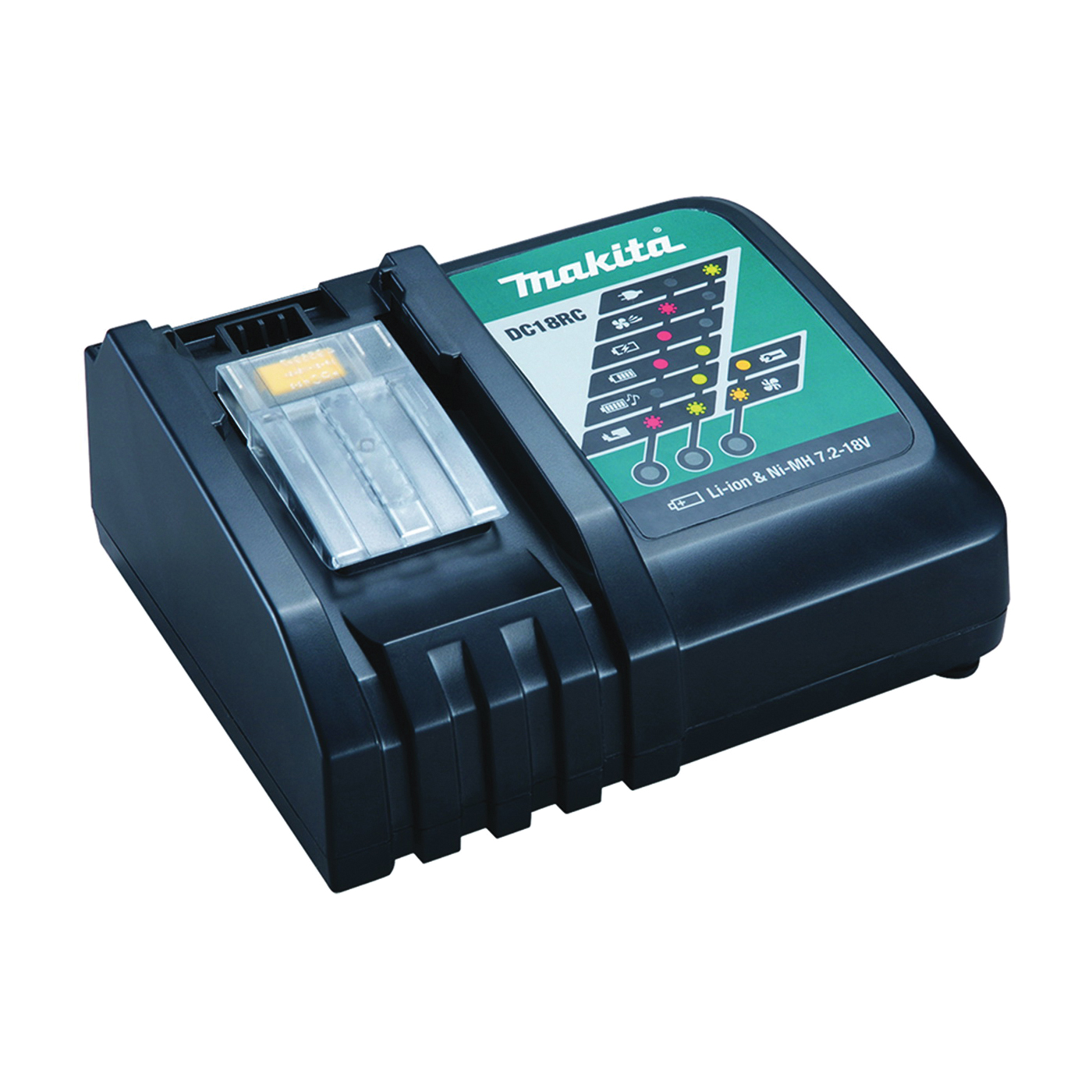 Picture of Makita DC18RC Battery Charger, 1.5 to 5 Ah, 45 min Charge, Battery Included: No
