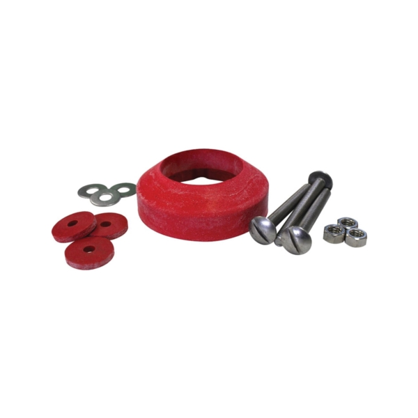Picture of Korky 464BP Tank-to-Bowl Gasket, 2-1/8 in ID x 3-1/2 in OD Dia, Sponge Rubber, Red, Blister