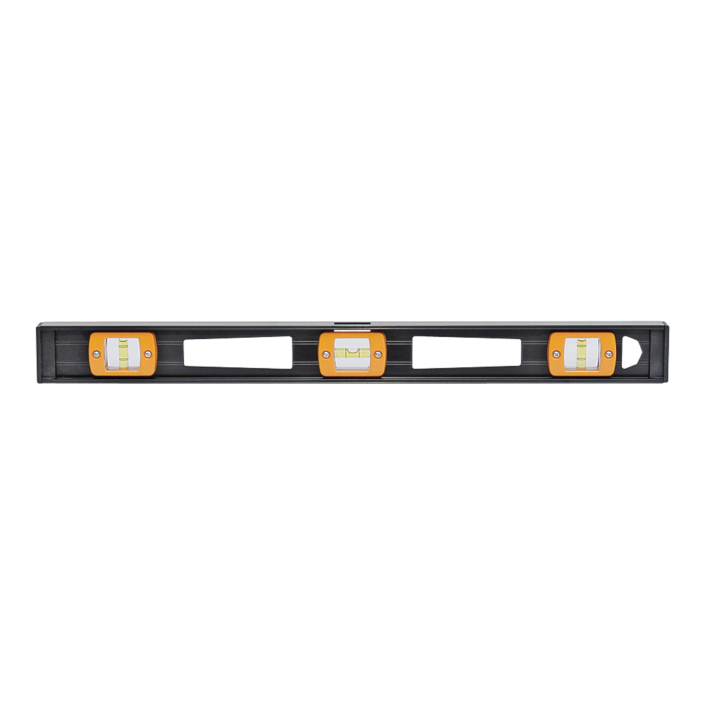 Picture of Johnson 3772 I-Beam Level, 72 in L, 5 -Vial, 2 -Hang Hole, Non-Magnetic, Aluminum, Black