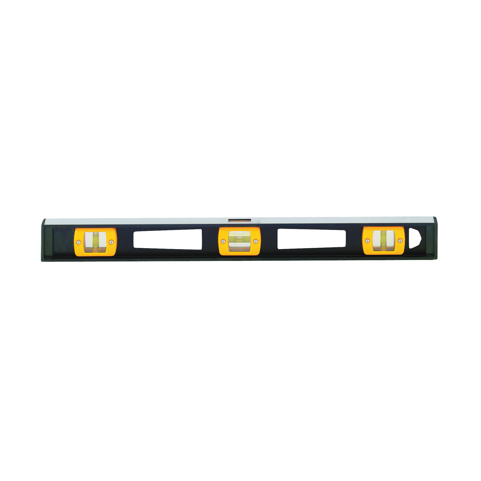 Picture of Johnson 3724 I-Beam Level, 24 in L, 3 -Vial, 1 -Hang Hole, Non-Magnetic, Aluminum, Black
