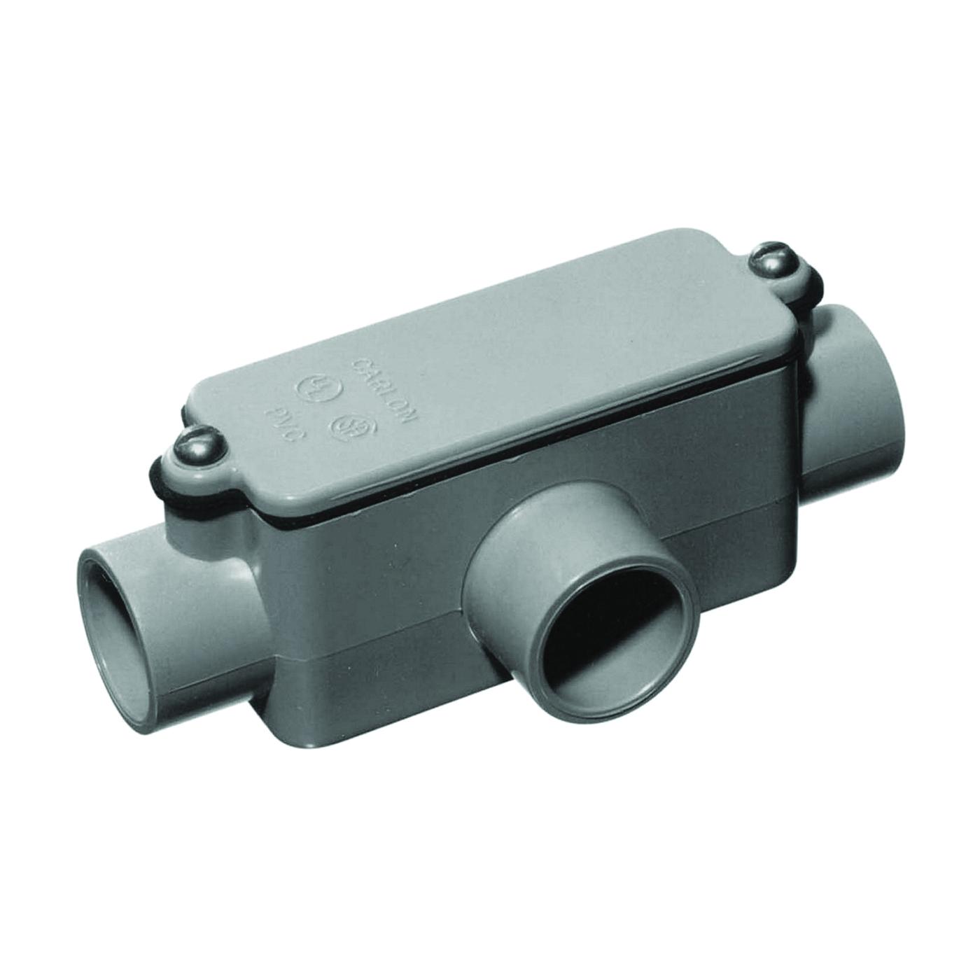Picture of Carlon E983D-CTN Conduit Body, PVC, Gray