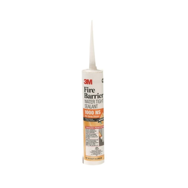 Picture of 3M 1000 NS Fire Barrier Sealant, Light Gray, 10.1 oz Package, Cartridge