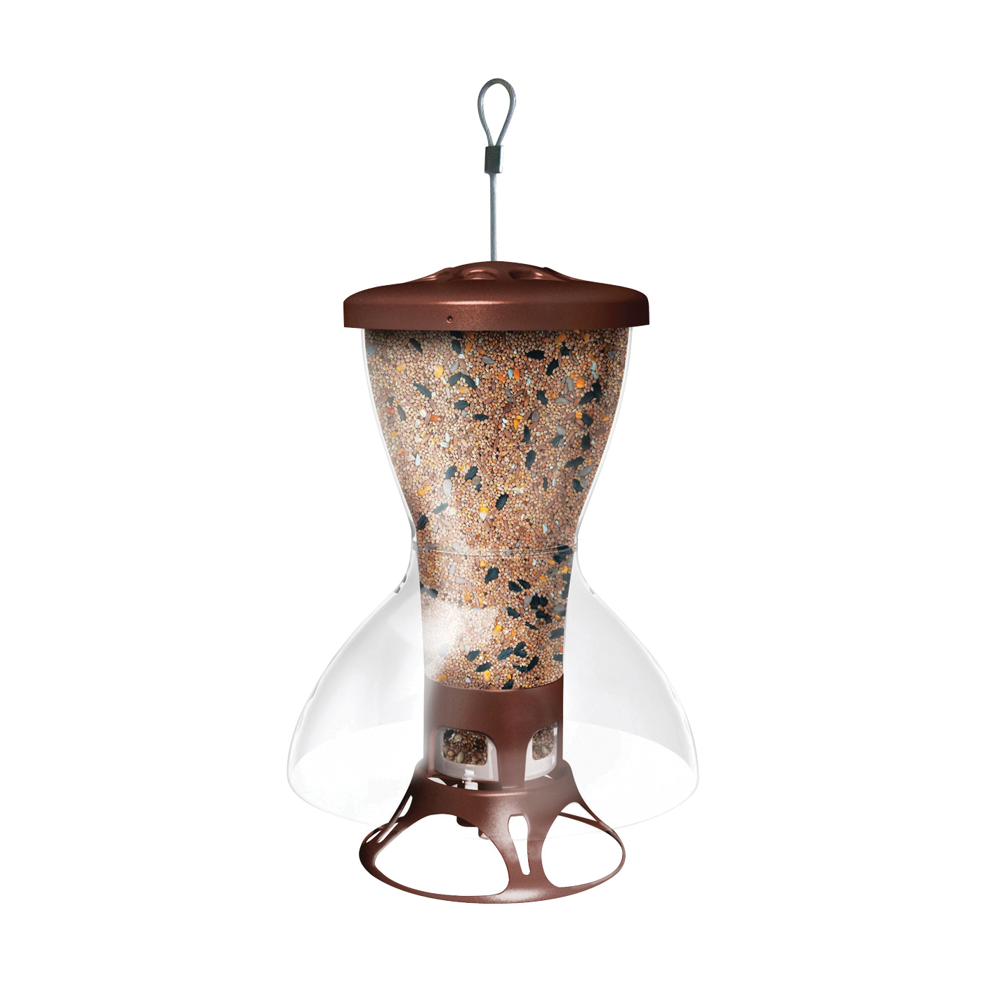 Picture of Perky-Pet 5109-2 Wild Bird Feeder, 12-1/2 in H, 3.5 lb, Metal/Plastic, Clear, Hanging Mounting