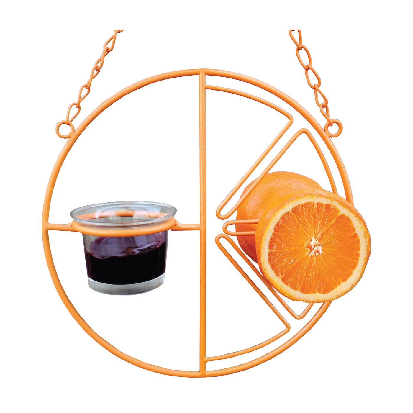 Picture of HEATH CF-133 Clementine Oriole Feeder, 2 oz, Steel, Orange