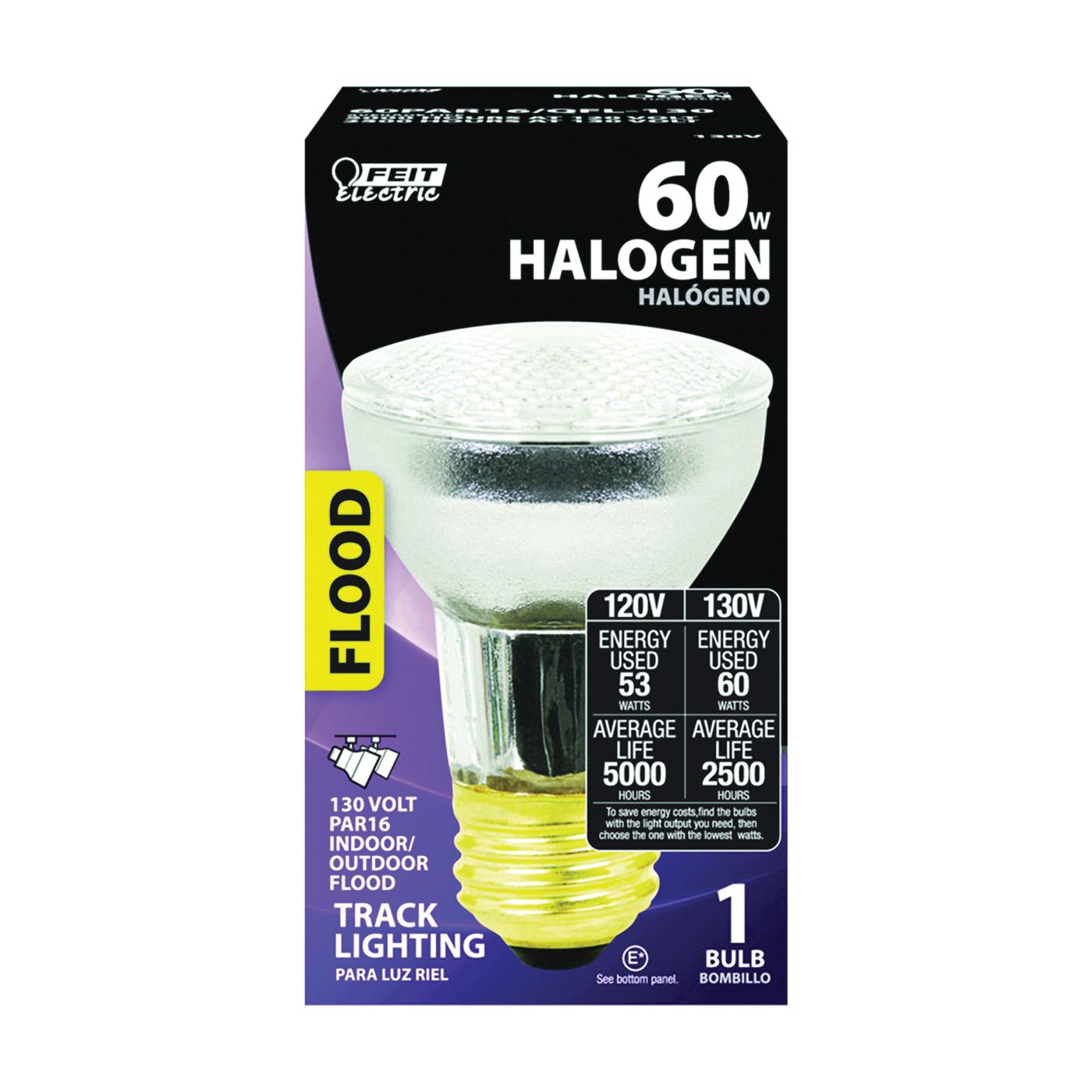 Picture of Feit Electric 60PAR16/QFL-130 Halogen Lamp, 60 W, Medium E26 Lamp Base, PAR16 Lamp, Bright Light